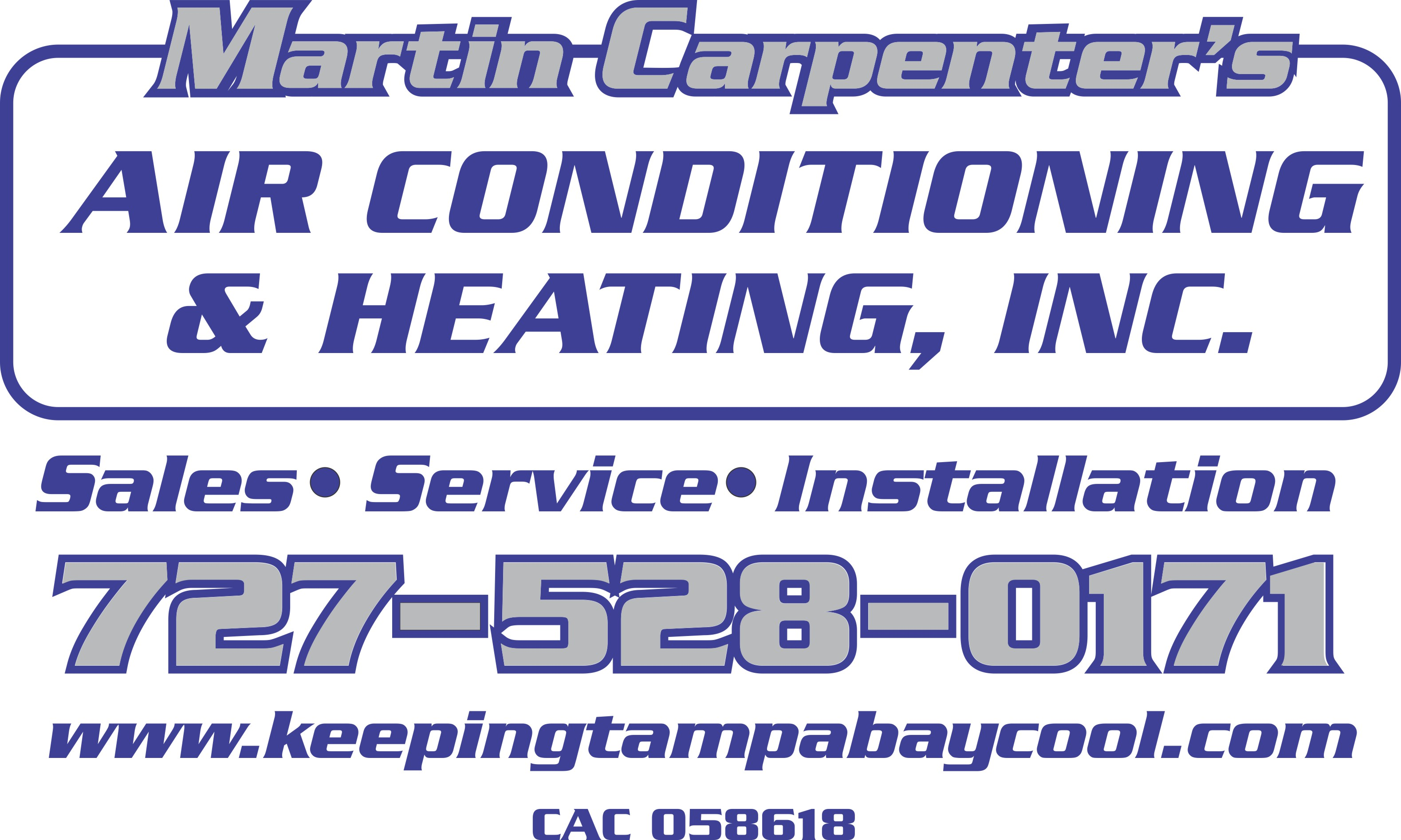 Martin Carpenter's Air Conditioning & Heating, Inc.