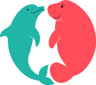 Dolphin and manatee